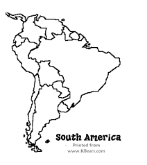 outline of south america map best photos of south america map coloring south america map south