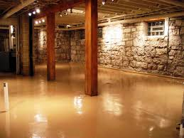 awesome concrete floor basement ideas design decorating luxury in