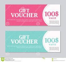 create a gift card gift voucher template with sle text vector stock vector