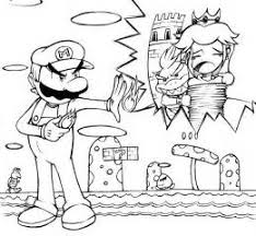 super mario coloring coloring pages