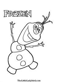 free anna elsa olaf frozen coloring