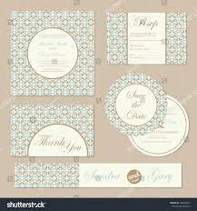 Pictures Of Wedding Invitation Cards Set Vintage Wedding Invitation Cards Vector Stock Vector 164360201