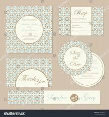 Formal Invitation Cards Set Vintage Wedding Invitation Cards Vector Stock Vector 164360201