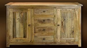 buffet cuisine bois buffet bas en bois massif style rustique 2 portes et 4 tiroirs