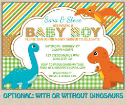 Shrimant Invitation Card Shabby Chic Dinosaur Baby Shower Invitation Diy Printable Jpeg