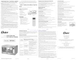 Oster Extra Large Toaster Oven Owner U0027s Manual For Ovens Oster Tssttvxldg Oster Extra Large