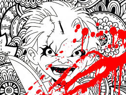 chucky coloring page new classic horror coloring pages coloring pages for
