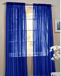 Navy Blue Sheer Curtains 2 Beautiful Sheer Window Royal Blue Elegance