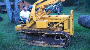 1958 john deere 420 crawler loader youtube