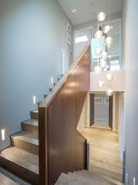 Recessed Handrail Wood Stair Railing Staircase Contemporary With Wooden Staircase