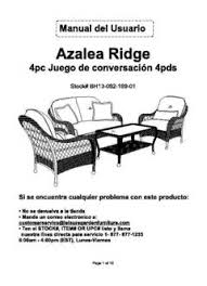 Azalea Ridge Patio Furniture Replacement Cushions Better Homes And Gardens Azalea Ridge 4 Piece Patio Conversation