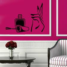 wall decals manicure nails beauty salon vinyl sticker murals wall
