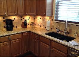 Brown Glass Tile Backsplash glass tile backsplash with granite cecilia granite brown