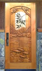 Carved Exterior Doors Carved Custom Front Entry Doors Cactus Creek Carved Entry