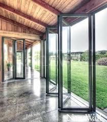 Frameless Patio Doors Collapsible Glass Doors Glazed Designer Series Aluminium Bi