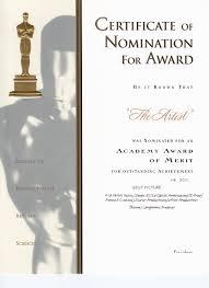 Prize Certificate Template Oscar Award Template Oscar Party Invitations Kawaiitheo Com