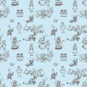 alice in wonderland toile in pink wallpaper mytinystar spoonflower