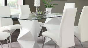 coaster dining room table coaster ophelia dining table white 121571 at homelement com