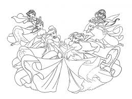 coloring glamorous coloring sheets disney princesses