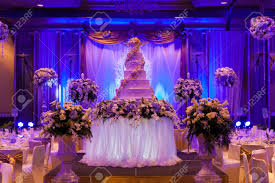 banquet table decorations photos marriage celebration with cake banquet table flowers and