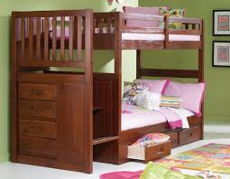 Bunk Bed With Storage Stairs Bunk Beds With Stairs Merlot Stair Stepper Twin Over Discovery