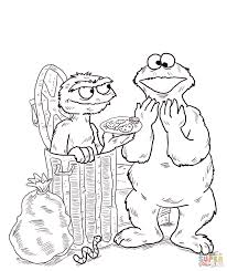 oscar the grouch coloring page oscar the grouch coloring page
