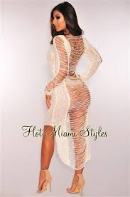 miami styles ripped crochet cover up maxi dress