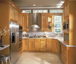 Birch Wood Cabinets In Casual Kitchen Aristokraft - Birch kitchen cabinet