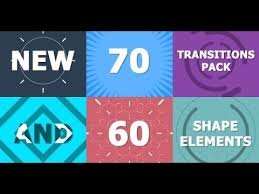 70 transitions pack after effects template youtube lettre
