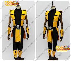 Scorpion Halloween Costume Mortal Kombat 3 Scorpion Cosplay Costume Csddlink Cosplay