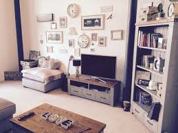 Shabby Chic Apartments by Living Room Vintage Oak Grey Interior Feature Wall Picture