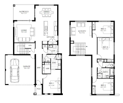 four bedroom house floor plan collection one story open plans with
