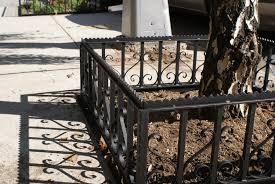 wrought iron tree fences nyc ornamental iron fencing