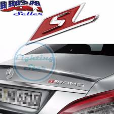 logo mercedes benz amg s logo car rear trunk lid emblem 3d chrome sticker for mercedes