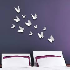 wall stickers next day delivery wall stickers from worldstores walplus 12 piece 3d white butterfly wall sticker collection