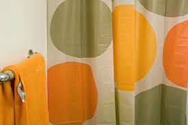 Orange Shower Curtains Polkadot Orange Shower Curtain Scheduleaplane Interior Cool