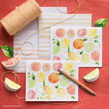 watercolor notecards gorgeous citrus stationery printables for a greeting