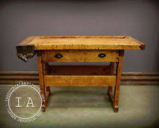 Old Woodworking Benches For Sale by Vintage Workbench Antiques Ebay