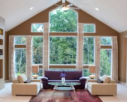 awesome bedroom decoration with large windows with living that has