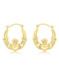 creole earrings 9ct gold mini claddagh creole earrings lfhghx