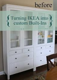 Diy Built In Cabinets by We Have Successfully Turned Two Ikea Hemnes Glass Door With
