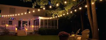 Backyard String Lighting by Patio String Lights Outdoor Solar Hanging Outdoor Patio Lights