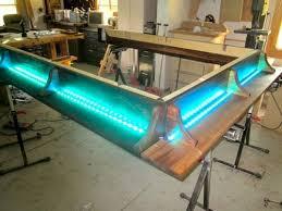 Platform Bed With Lights Walnut Platform Bed 7 Lighting It U0027s Alive By Craftsman On