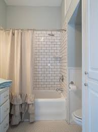 fixer upper s best bathroom flips beadboard wainscoting black chip and jo went for big and bright in the new bathroom replacing the black