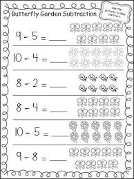 practice subtraction in the spring with this free butterfly garden