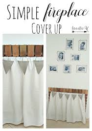 fireplace cover up simple fireplace cover up kreativk