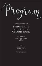 vista print wedding programs affordable wedding programs custom wedding programs vistaprint