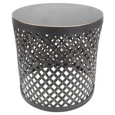 Black Accent Table Accent Table Round Cutout Metal Black Threshold Target