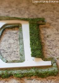 moss covered letters diy moss covered monogram tutorial of family home