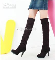 womens boots knee high autumn and winter the two wear elastic stretch boots high with